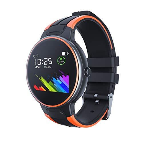 YGQNH Z8s Reloj Inteligente Mujer Hombre Deporte Fitness Monitor De Salud Mensaje Recordatorio De Llamada Relojes Inteligentes Ajuste con Pantalla Táctil Relojes De Pulsera(Color:Naranja)