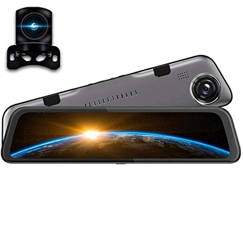 XBRMMM 2020 El Más Nuevo IPS Touch 12 Pulgadas con Visión Nocturna Súper Espejo Retrovisor Dashcam Cámara Dual 2K 1440P + HD1080P Monitor Estacionamiento De Asistencia Inversa,multilingüe