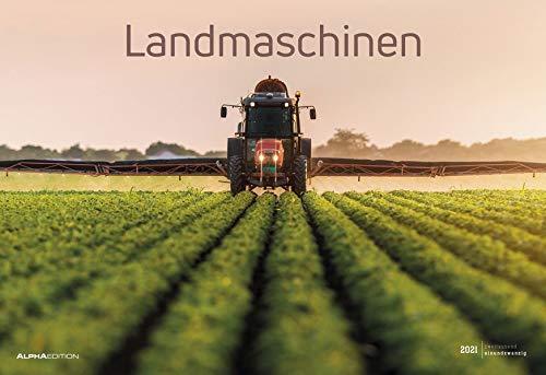 Landmaschinen 2021 - Bild-Kalender 49,5x34 cm - Technik-Kalender - Fahrzeuge - Wand-Kalender - Alpha Edition