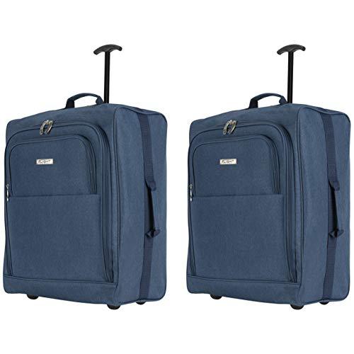 Flight Knight 56x45x25cm Leichtgewicht Handgepack Kabinentrolley Rollkoffer Gepack Reisetasche Bordgepack mit Radern fur Easyjet, British Airways, Jet 2 und viele andere Airlines