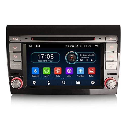 ERISIN 7 pollici Android 10.0 Autoradio DVD Player per Fiat Bravo Supporto Carplay Android Auto Bluetooth A2DP GPS Sat Nav Wifi 4G DAB + RDS Mirror Link TPMS SWC 4 GB RAM + 64 GB ROM