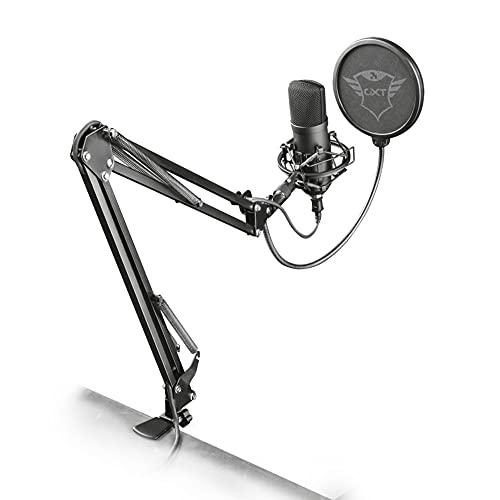 Trust Gaming GXT 252 Emita Plus Studio USB Mikrofon inkl. Arm für PC,PS4 & PS5