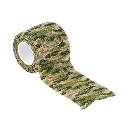 SeniorMar Elastic Camouflage wasserdichte Jagd im Freien Camping Stealth Camo Wrap Tape Militär Airsoft Paintball Stretch Bandage