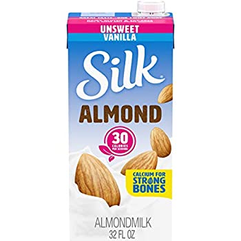 Silk Shelf-Stable Almondmilk Unsweetened Vanilla Dairy-Free Vegan Non-GMO Project Verified 1 Quart