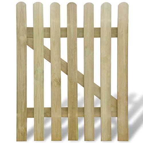vidaXL Cancello per Staccionata in Legno 100x120 cm Steccato Giardino Recinto