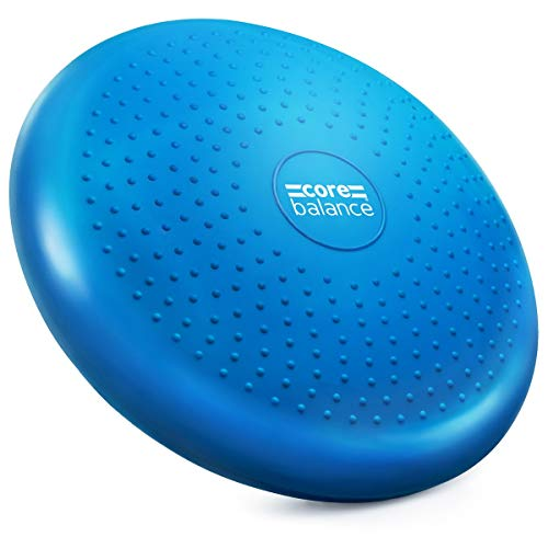 Core Balance Inflatable Wobble Cushion Stability Training Air Pad Board With Pump