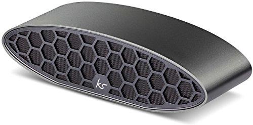 KitSound Hive Evolution Bluetooth Wireless Tragbarer Stereolautsprecher Inkl. Reisetasche und Netzstecker für EU/UK/USA, Kompatibel mit Smartphones, Tablets und MP3 Geräten - Gun Metal Grau