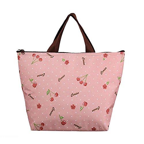 Bolsa de almuerzo reutilizable con aislamiento, portátil y duradera, bolsa de arroz para almuerzo, para hombres, mujeres y niños F