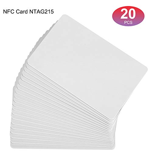 20Pcs NFC Cards Ntag 215 programmable in Tagmo for All Phone NFC Enabled 100% Compatible with Amiibo