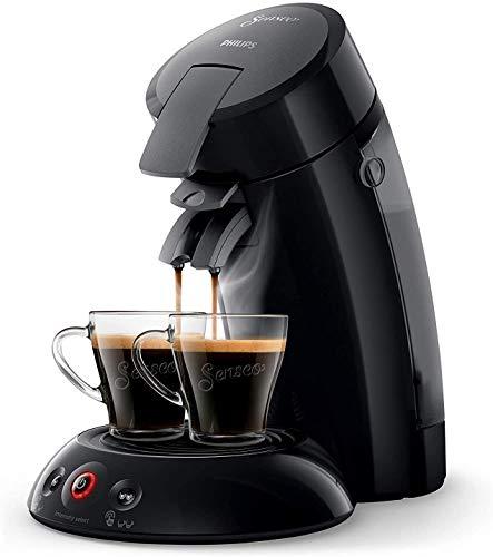 Original HD6554/61 - Cafetera monodosis con tecnología Coffee Boost y Crema Plus, selección de intensidad, color negro