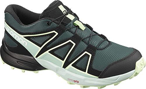 Salomon Kinder Trail Running Schuhe, SPEEDCROSS J, Farbe: grün (Green Gables/Icy Morn/Patina Green), Größe: EU 33