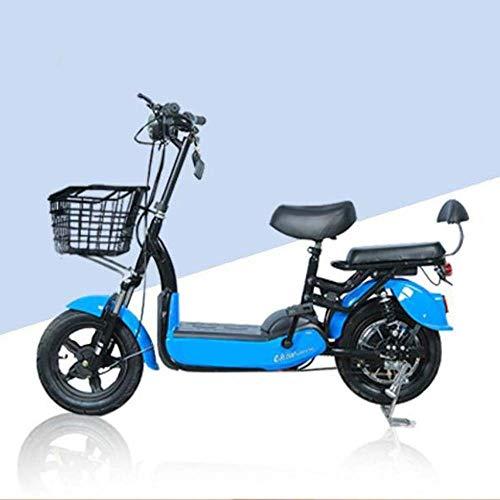 WZY® E-Scooter Power Seat Elektroroller Tretroller Klapproller Elektro E-Roller Erwachsenenbatterie Auto Zweirad Elektro-Fahrrad Doppel Elektroauto für Spannung 48V Tragfähigkeit 75kg