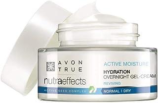 Avon Nutraeffects Active Moisture Crema de gel hidratante normal/seca durante la noche, 50 ml