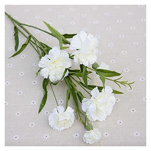JINQIANSHANGMAO Künstliche gefälschte Blumen, gefälschte Kunststoffpflanzen Seidennelken, künstliche Pflanzen Blumen, für Weihnachten Home Hochzeit Dekor Zubehör DIY Fake Kunststoffpflanzen (1 Stüc