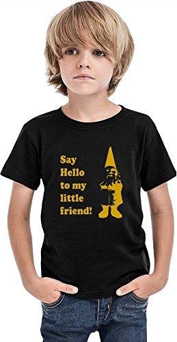 Styleart Say Hello to My Little Friend - Camiseta para niños, Negro, 10-12 Años