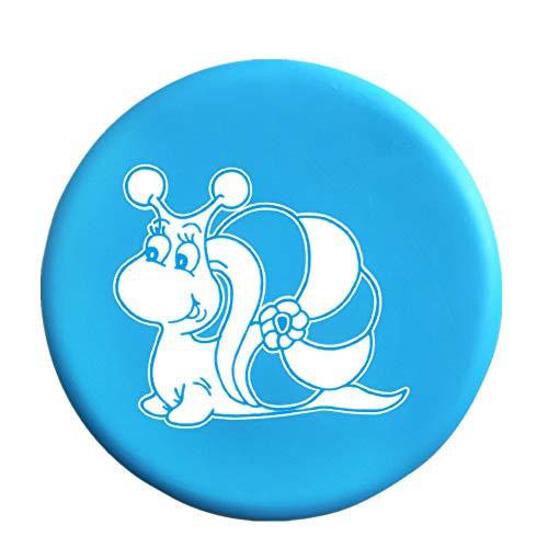 BangShou Frisbee Suave Niños del Disco Volador Frisbee con Patrón de Dibujos Animados para Niños Deportes (Caracol Azul)