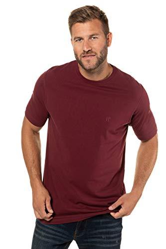 JP 1880 Herren große Größen bis 8XL, T-Shirt im Doppelpack, Basic-Shirt aus Reiner Jerseyqualität, Rundhals, Bequeme Passform Rubin, dunkel Marine XXL 702637 50-XXL