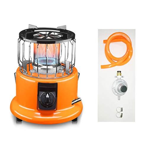 Mini Tabletop Gas Natural / propano serbatoio Patio Heater + 2m tubo flessibile della copertura della maglia + riduttore di pressione Arancione, termo