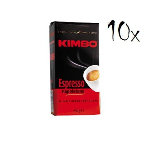 10x KIMBO Kaffee Espresso Napoletano 250g Packung gemahlen ground coffee caffè
