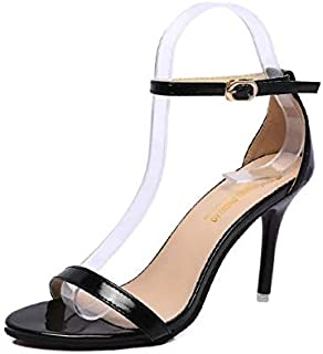 9eee5508b2eb Bcznmx High-Heeled Sandals Spring and Summer 2019 Korean Version of Sexy  Lacquered Women s Fine