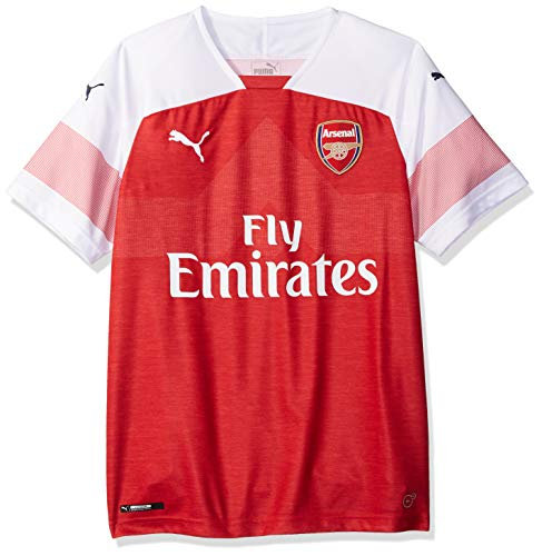 PUMA Arsenal FC Home Shirt Replica SS with EP Camisa, Chile Pepper Heather, M para Hombre