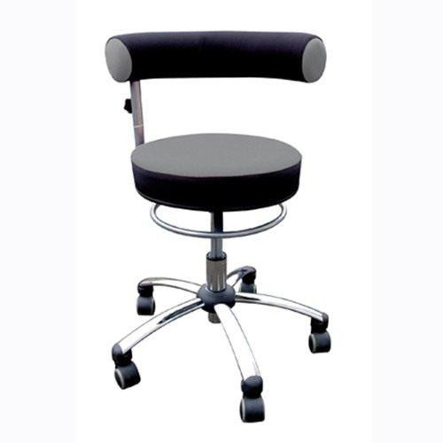 Bungarten Sanus Gesundheitsstuhl mit höhenverstellbarer Lehne, Sitzhöhe niedrig (36-43 cm), grau/schwarz