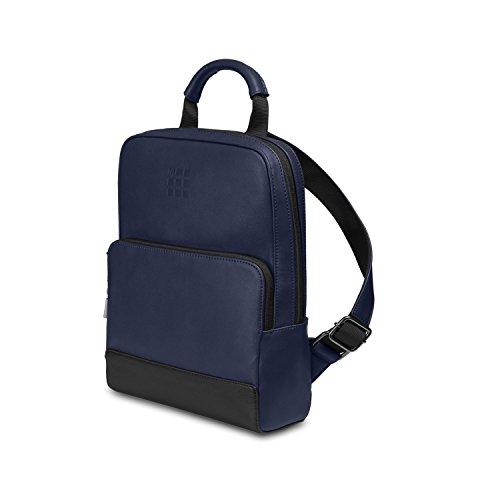 Moleskine Classic Mini Backpack Zaino Porta PC per Uomo e Donna, Dimensioni 34 x 25 x 11 cm, Colore Blu Zaffiro