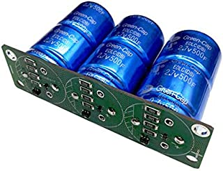 Super Farad Capacitors 3PCS/Set 2.7V 500F Super Capacitor with Protection Board Single Row 8.1V 166F Farad Capacitor for Car