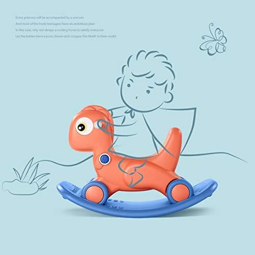 NXYJD Baby Schaukelpferd Spielzeug 2-5 Jahre alte Kinder Reitspielzeug 2 in 1 rutschfesten Schaukelpferd Roller