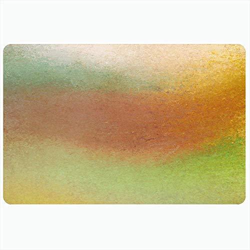 Tappeto da bagno per bagno Tappetini antiscivolo Vecchio muro Estate Toni terrosi Marrone Spugnato Grafica Ruggine Arancione Verde Sbiadito Trame astratte Pittura Peluche Decor Zerbino Tappetino antis