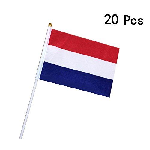 Georgie Porgy Fußball Nationalflaggen Handflagge Parteien Olympische Spiele (20 PCS kleine Niederlande Fahnen)