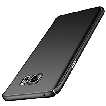 Anccer Compatible for Samsung Galaxy Note 5 Case [Ultra-Thin] [Anti-Stain] [Anti-Drop] Premium Material Slim Full Protection Cover  Smooth Black