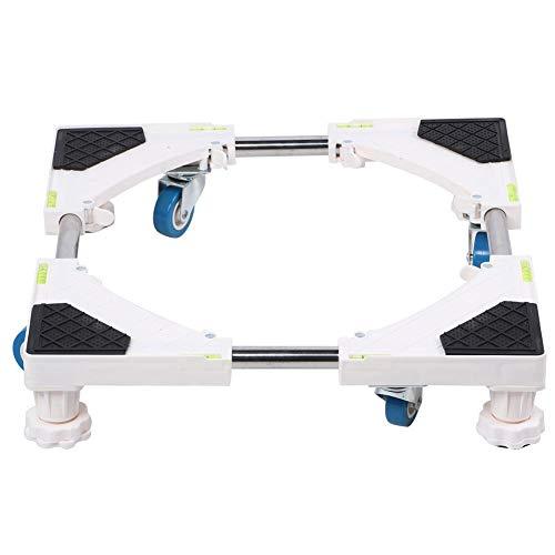 4 piedi con 4 ruote di supporto per frigorifero con base mobile universale Supporto per base di base per lavatrice per frigorifero e asciugatrice per lavatrice automatica
