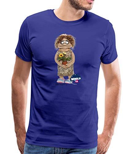 Wiwaldi Und Co Charming Traudl Männer Premium T-Shirt, XL, Königsblau