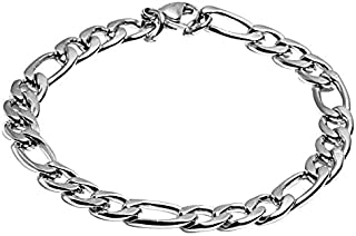 10mm Heavy STAINLESS STEEL Figaro Bracelet for Men Women by Julia Fashion