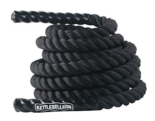 KETTLEBELLKON(ケトルベル魂)プログレード・バトルロープ (50mm x 9m + アンカーストラップ付)