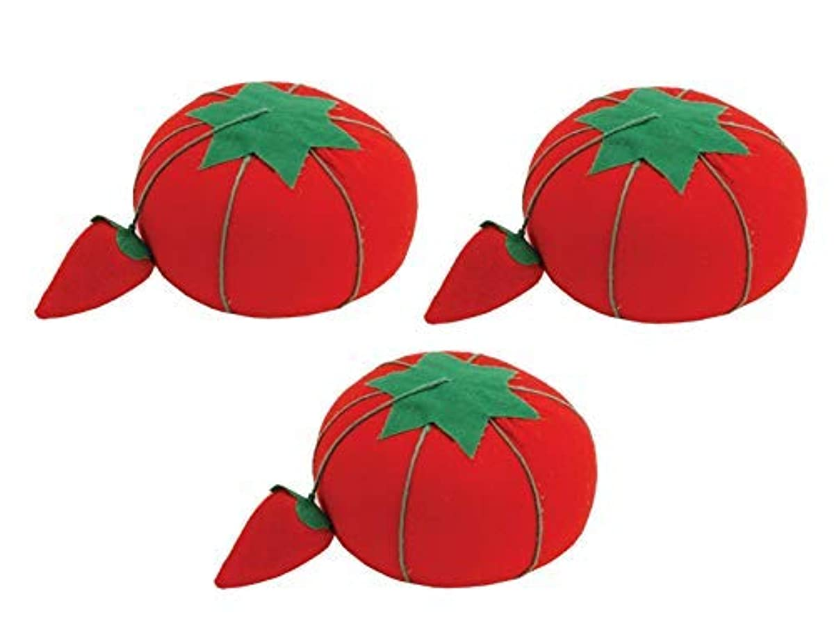 Dritz Tomato Pin Cushion W/Strawberry Emery, 2.5
