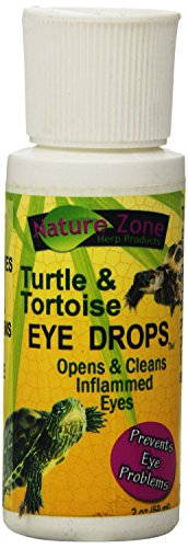 Nature Zone Turtle Eye Drops Open & Cleans Inflamed Prevents Eye Problems 2oz