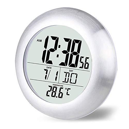 TiooDre Termometro da Interno per Orologio Digitale con Orologio da Parete