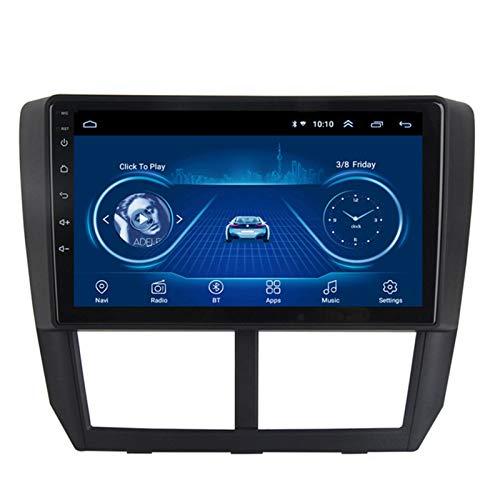 Android 10.0 Navegación GPS Coche Estéreo Radio 9 Pulgadas 2.5D HD Pantalla Táctil Ser Aplicable Subaru FORESTER (2008-2012) Apoyo Cámara De Visión Trasera/WIFI/FM AM/Mirror Link/Mandos Volante,2G+32G