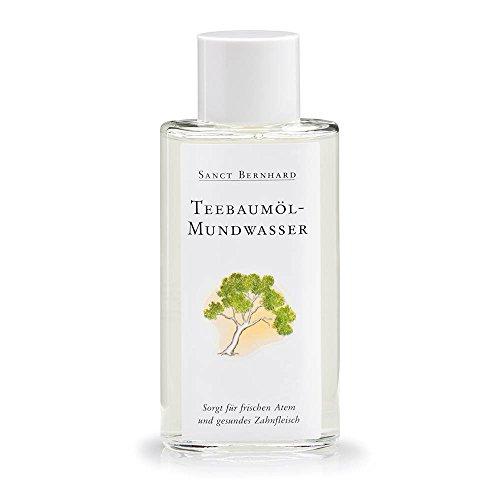 Sanct Bernhard Teebaumöl-Mundwasser mit Teebaumöl, Krauseminzöl, Salbeiöl, Rosmarinöl 100 ml