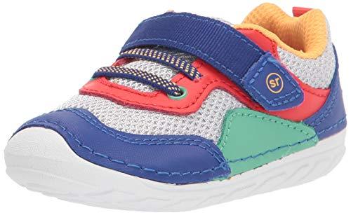 Stride Rite baby boys Soft Motion Rhett Sneaker, Multi, 5.5 Wide Infant US