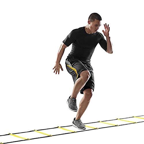 Xin 9 Estilos de Nylon Correas Escalera de Agilidad de Entrenamiento de la Velocidad de fútbol Escaleras Fútbol Fútbol Velocidad Equipo de Entrenamiento Deportivo (Size : 10Rung 15Feet 5M)