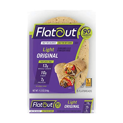 Flatout Wraps, Light Original (1 Pack of 6 Flatbreads)