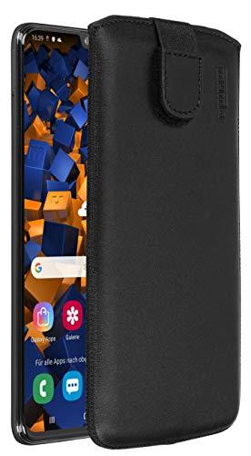 mumbi Echt Ledertasche kompatibel mit Samsung Galaxy A70 Hülle Leder Tasche Hülle Wallet, schwarz