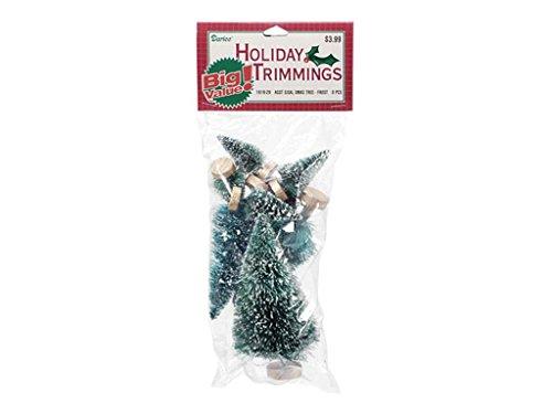 Darice Christmas Craft Supplies 8pcs Mini Sisal Tree