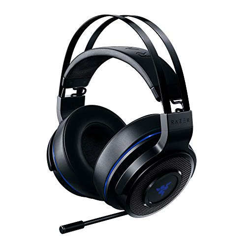 Razer Thresher für PlayStation - Wireless Gaming Headset für PS4, PS5 und PC (Kabellose Kopfhörer, 16 Stunden Akku-Laufzeit, On-Headset-Steuerung, Kunstleder-Ohrpolster) Schwarz-Blau