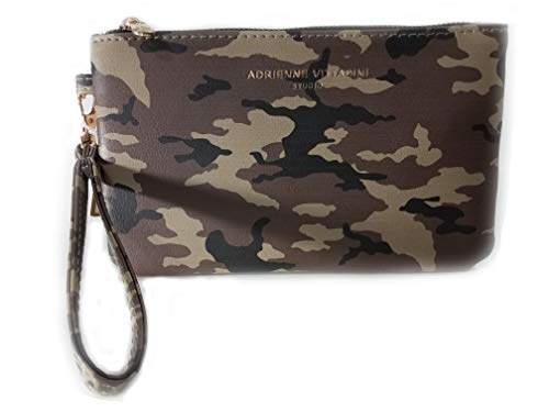Adrienne Vittadini Charging Wallet with RFID Protection Detachable Wristlet Strap Saffiano Printed Camo