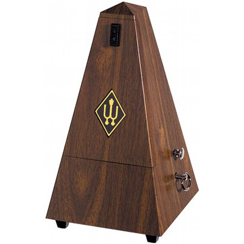 Wittner Taktell Pyramidenform Metronom Kunststoffgehäuse mit Glocke Nußbaum-Maserung
