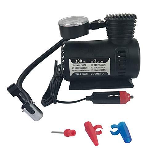 Sairis Mew Quick Flow Compact Air Compressor,12v Car Electric Mini Compact Compressor Pump Bike Tyre Air Inflator 300psi-black